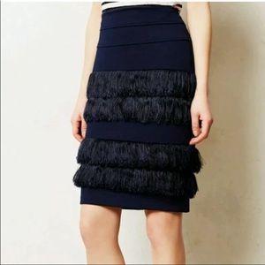 Anthropologie Eva Franco fringe skirt size 10